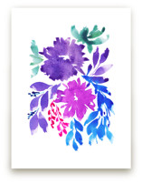 hand painted flowers_3D by aticnomar