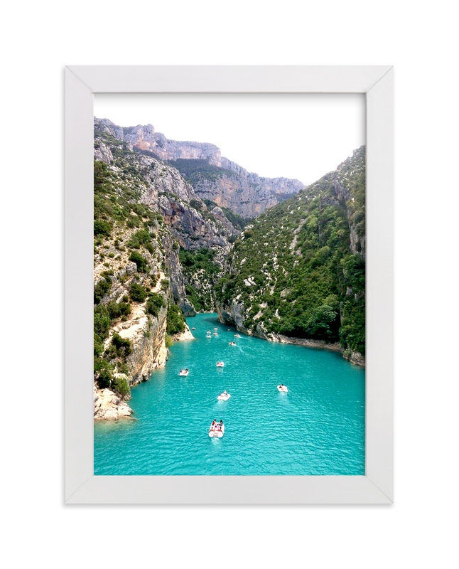 """""""Gorges de Verdon"""" - Art Print by Michelle Jean in beautiful frame options and a variety of sizes."""