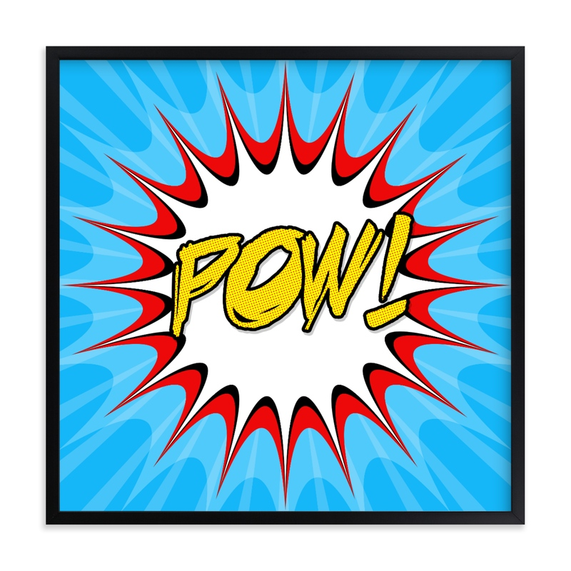 """""""Comic Book"""" - Art Print by Michelee Scott in beautiful frame options and a variety of sizes."""