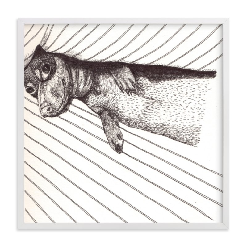 """doggy"" - Art Print by XL in beautiful frame options and a variety of sizes."