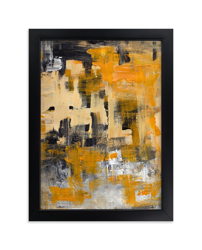 """""""Orange Zest"""" - Art Print by Ilana Greenberg in beautiful frame options and a variety of sizes."""