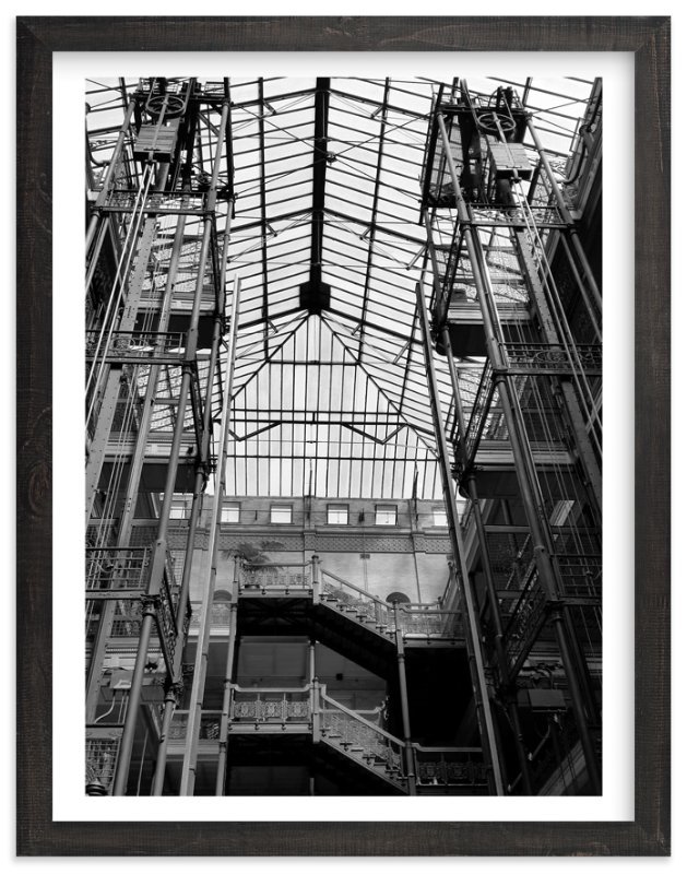 """Bradbury Building"" - Art Print by Jennifer Morehead in beautiful frame options and a variety of sizes."
