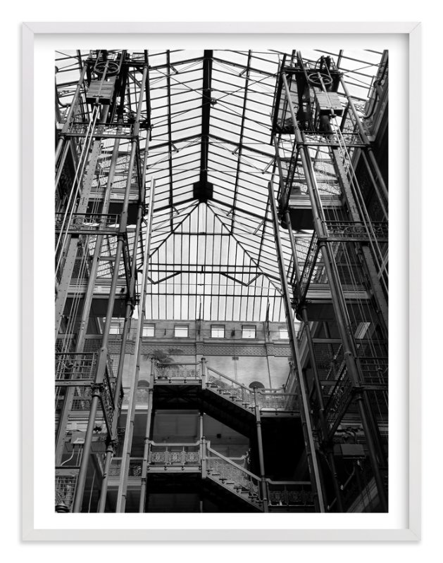 """""""Bradbury Building"""" - Art Print by Jennifer Morehead in beautiful frame options and a variety of sizes."""