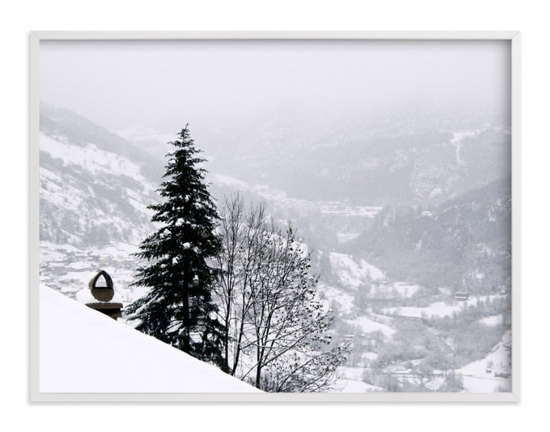 """winter in monochrome"" - Art Print by lulu and isabelle in beautiful frame options and a variety of sizes."