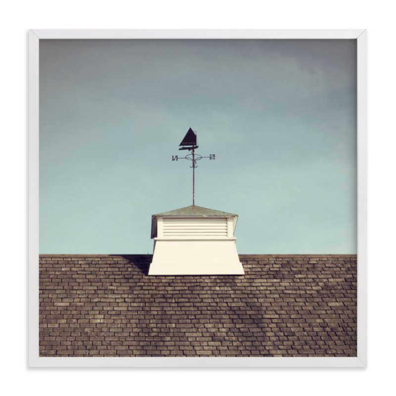 """""""Weather Vane"""" - Art Print by Gray Star Design in beautiful frame options and a variety of sizes."""