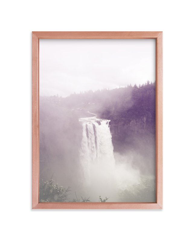 """Snoqualmie Falls"" - Art Print by Owl and Toad in beautiful frame options and a variety of sizes."