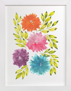 hand painted flowers_1K  Art Print