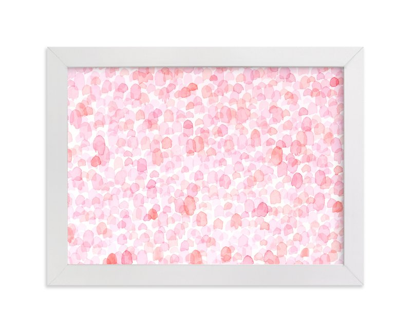 """""""Abstract Bright Pink Field"""" - Art Print by Pamela Steiner in beautiful frame options and a variety of sizes."""