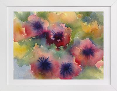 Velvet Petunias  Art Print