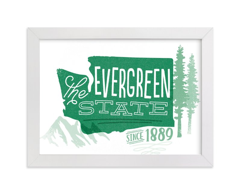 """The Evergreen State"" - Art Print by Jessie Steury in beautiful frame options and a variety of sizes."