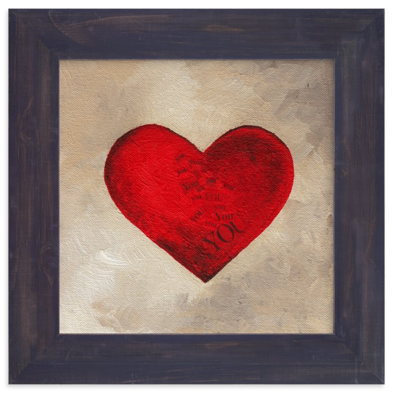 """Love Began With You"" - Art Print by Monique Soranno in beautiful frame options and a variety of sizes."