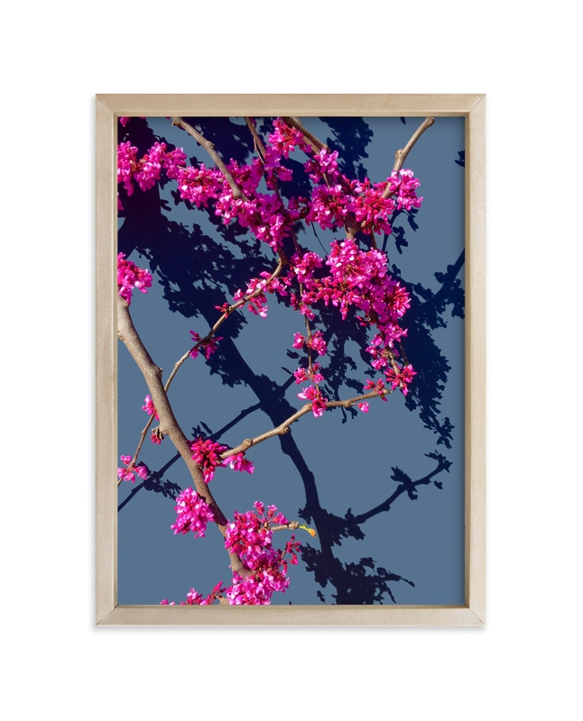 """""""Red Bud Blue"""" - Art Print by Katie Craig in beautiful frame options and a variety of sizes."""