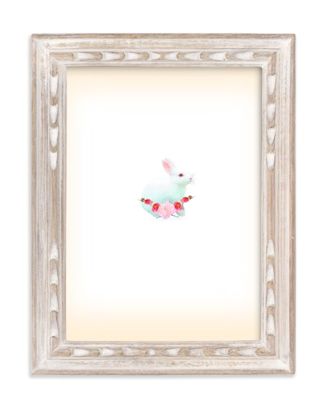 """""""Baby Bunny Rabbit"""" - Art Print by hadley hutton in beautiful frame options and a variety of sizes."""