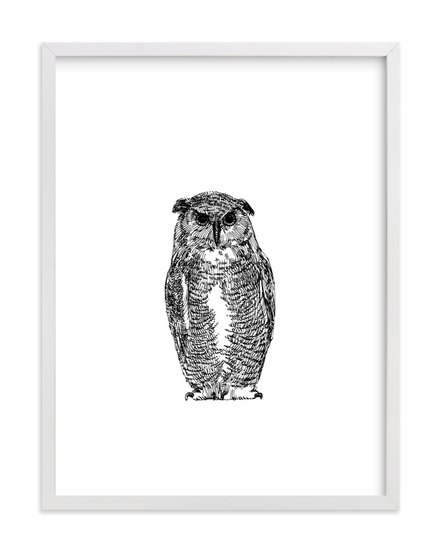 """""""Hibou"""" - Art Print by IMG_101 in beautiful frame options and a variety of sizes."""
