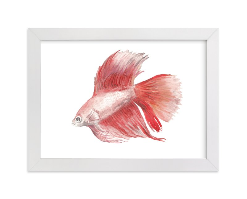 """""""Betta"""" - Art Print by Lauren Rogoff in beautiful frame options and a variety of sizes."""