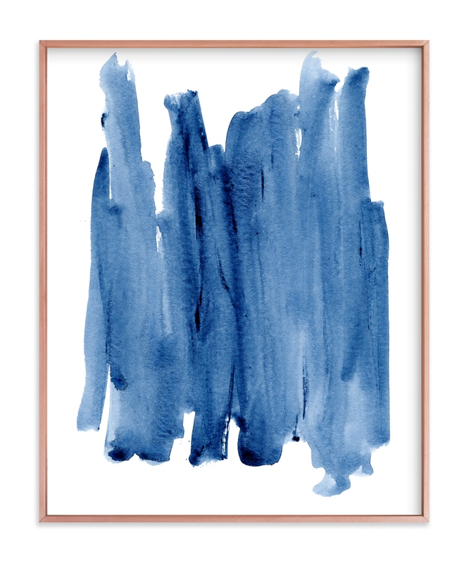 """Wash in Blue"" - Art Print by Katie Craig in beautiful frame options and a variety of sizes."