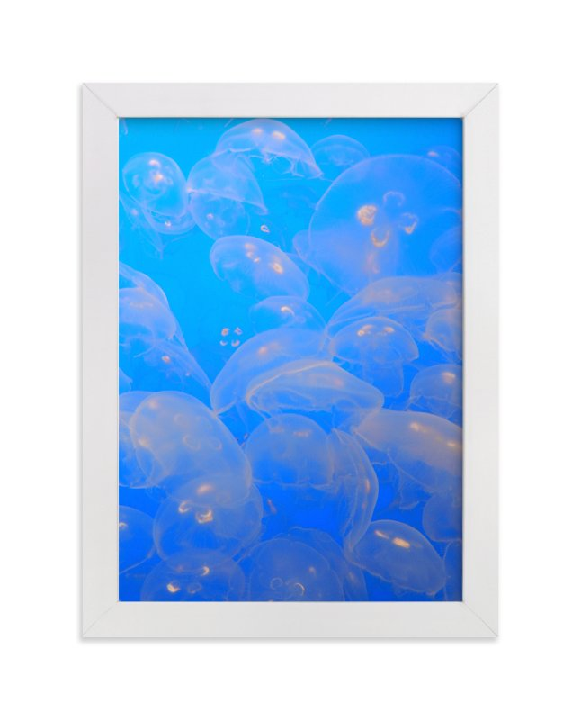 """Moon Jellies 2"" - Art Print by Jan Kessel in beautiful frame options and a variety of sizes."