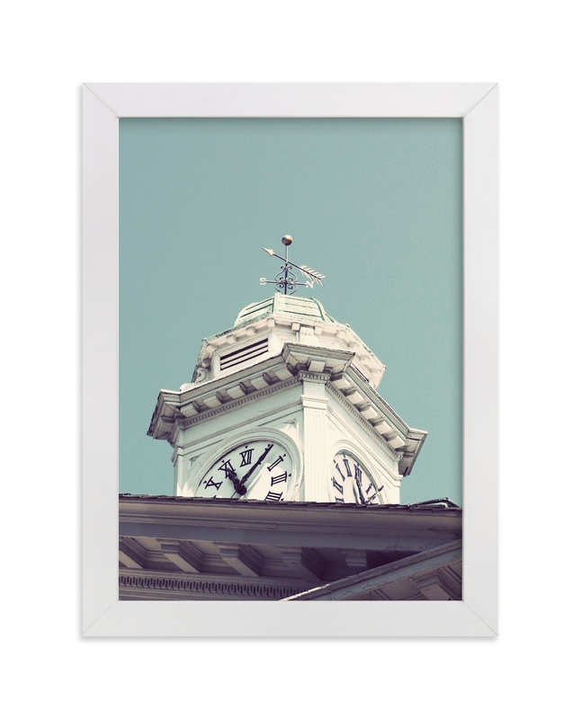 """""""The Time Teller"""" - Art Print by Gray Star Design in beautiful frame options and a variety of sizes."""