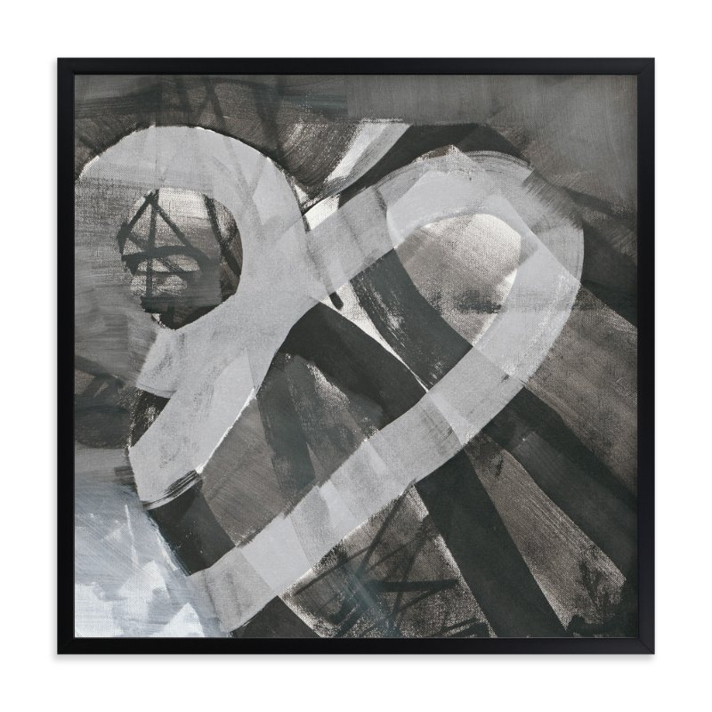 """White and Black Vapor Two  Series 1"" - Art Print by Angela Simeone in beautiful frame options and a variety of sizes."