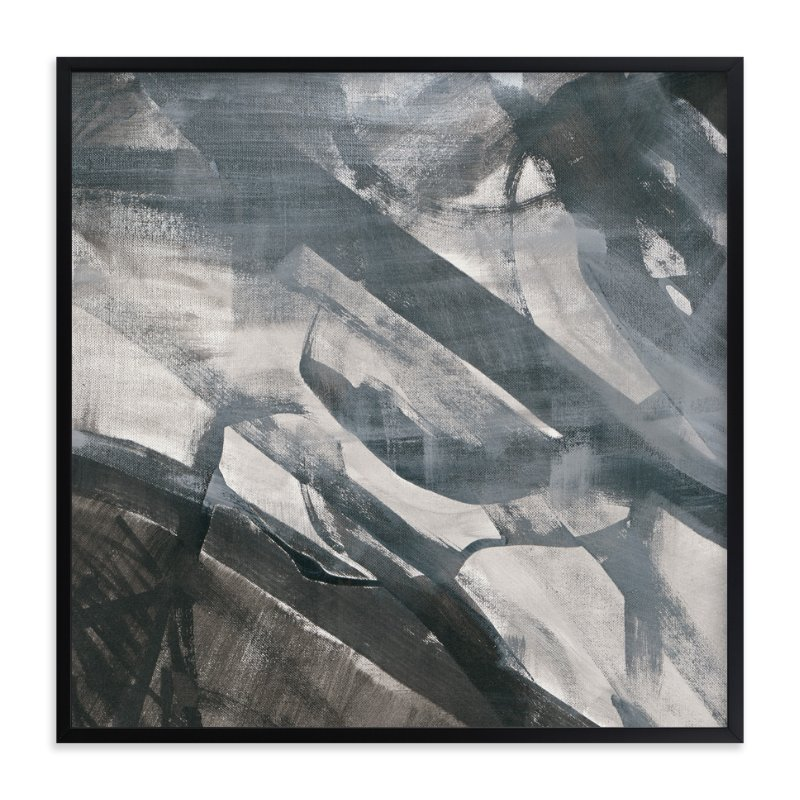 """""""White and Black Vapor 2 Series 3"""" - Art Print by Angela Simeone in beautiful frame options and a variety of sizes."""