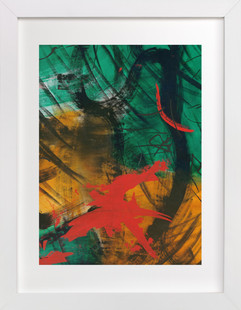 Vibrant Green and Red Series 2  Art Print