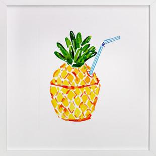 Poolside Pineapple  Art Print