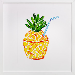 Poolside Pineapple  Art Print