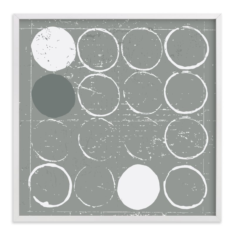 """Round Pegs, Square Holes"" - Art Print by Ria Sharon in beautiful frame options and a variety of sizes."
