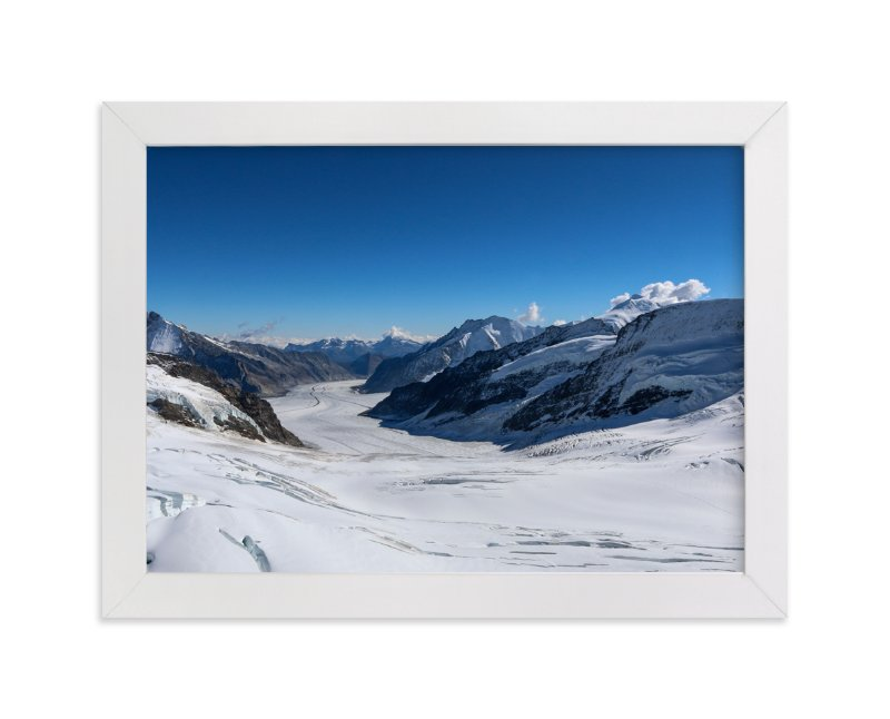 """""""Blue Alpine 1"""" - Art Print by Heather Squance in beautiful frame options and a variety of sizes."""