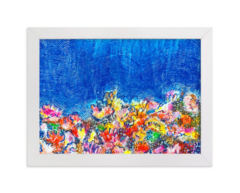 """""""Tropical Coral Reef"""" - Art Print by Pooja Pittie in beautiful frame options and a variety of sizes."""