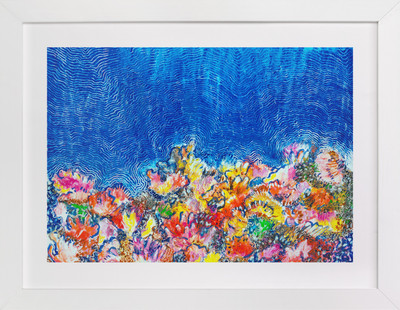 Tropical Coral Reef  Art Print