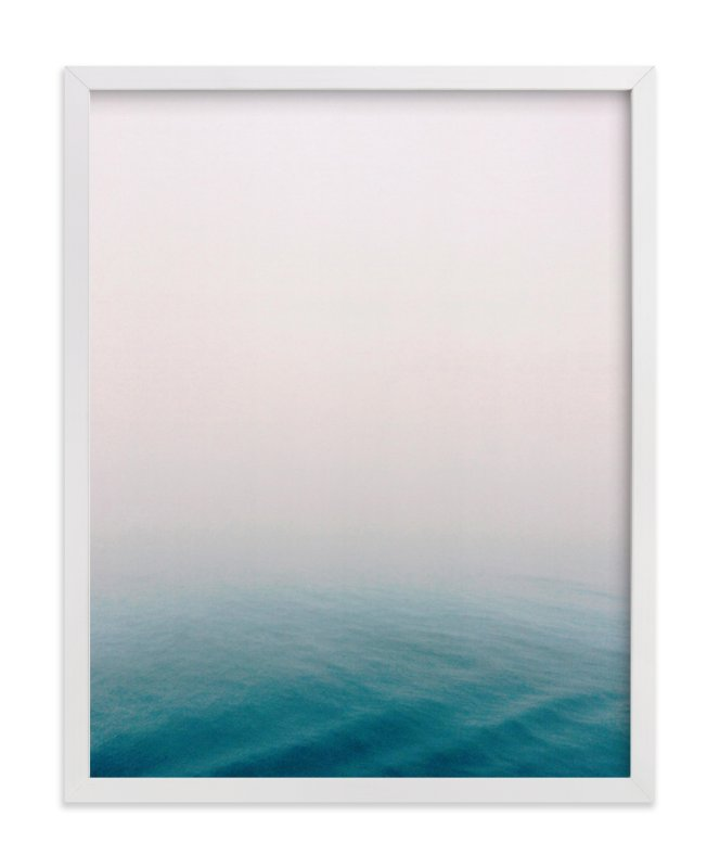 """Fog at Sea"" - Art Print by SylvieCeres Designs in beautiful frame options and a variety of sizes."