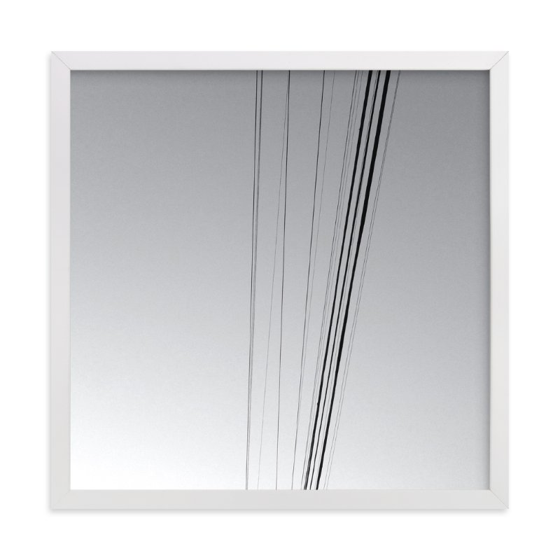 """Skywires 18"" - Art Print by Sonia L. Johansen in beautiful frame options and a variety of sizes."