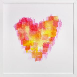 Pixelated Heart  Art Print