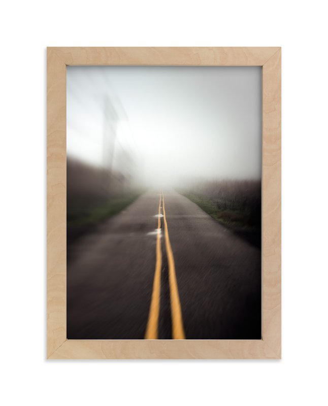 """Foggy Road"" - Art Print by Mary Ann Glynn-Tusa in beautiful frame options and a variety of sizes."