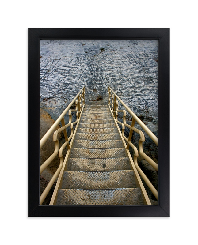 """""""Stairway to the Pacific"""" - Art Print by AJD in beautiful frame options and a variety of sizes."""
