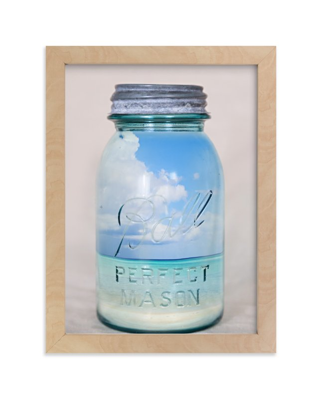 """""""Canned Beach"""" - Art Print by Erin Niehenke in beautiful frame options and a variety of sizes."""