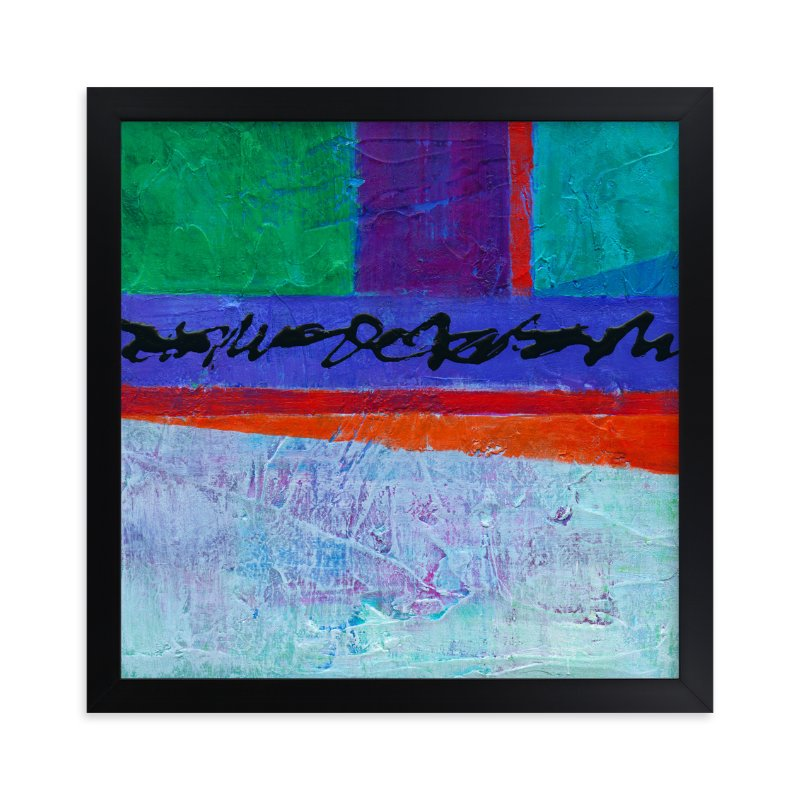 """""""Color Block I"""" - Art Print by Laura Bolter Design in beautiful frame options and a variety of sizes."""