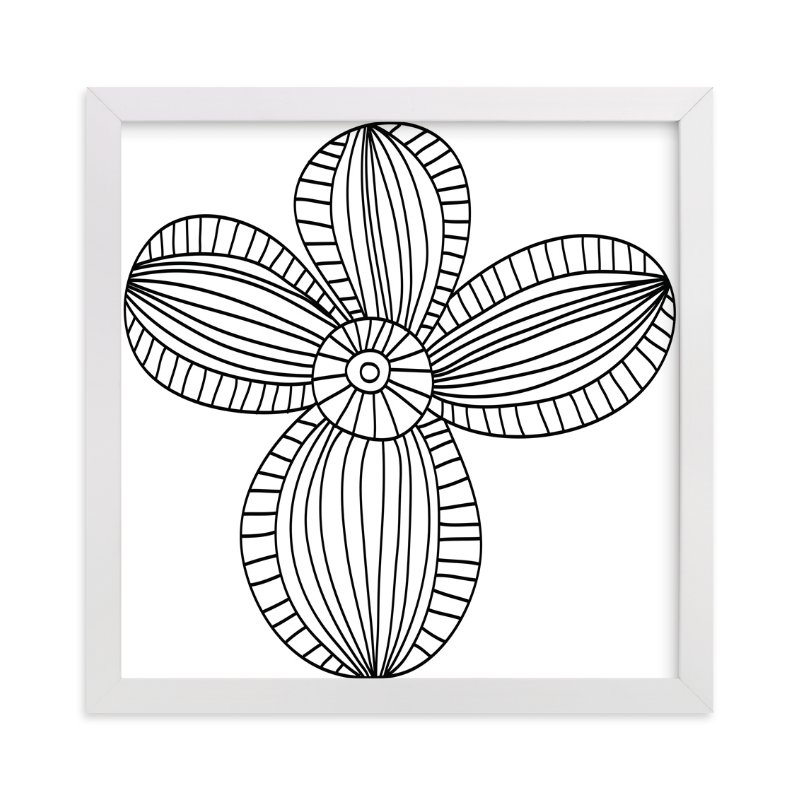 """""""floral stripes"""" - Art Print by aticnomar in beautiful frame options and a variety of sizes."""