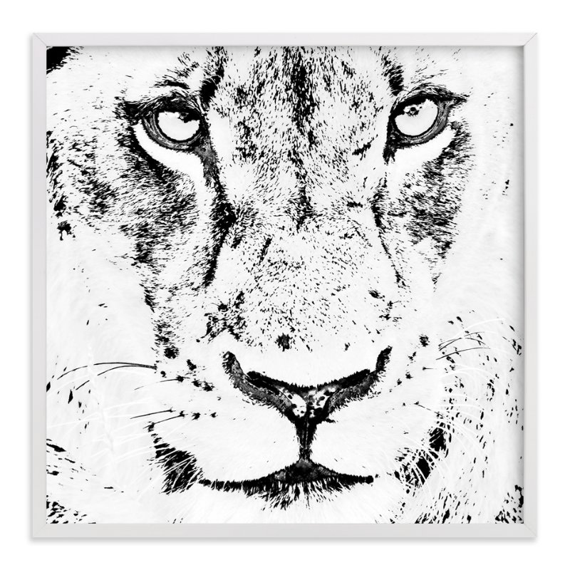 """""""mr LION"""" - Art Print by Gail Schechter in beautiful frame options and a variety of sizes."""