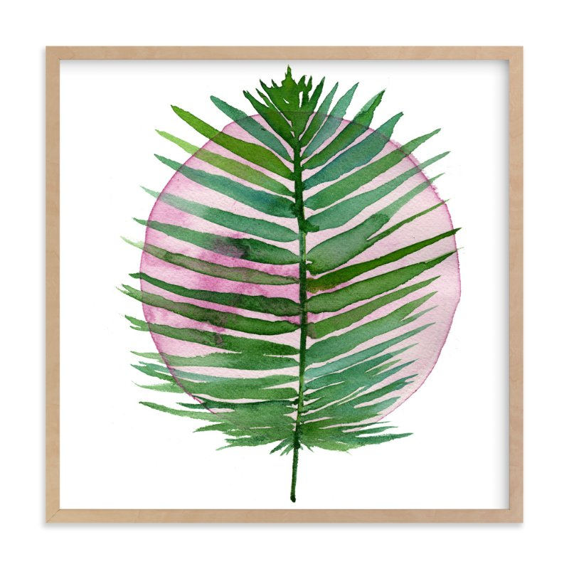 spotlight - sago palm Art Print