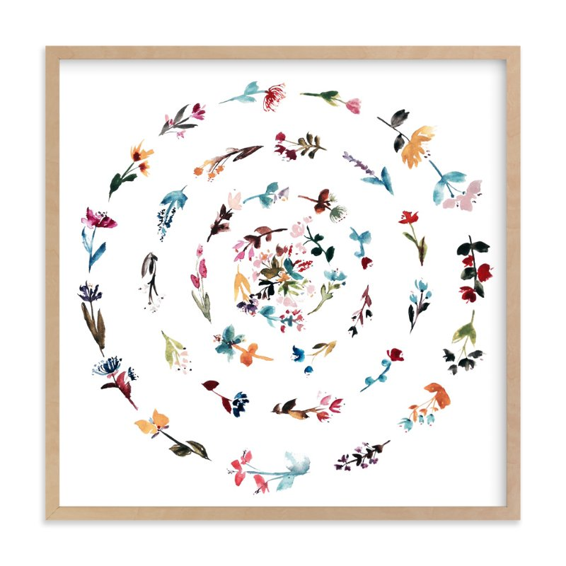 """""""floral mandala no.3"""" - Art Print by Kiana Mosley in beautiful frame options and a variety of sizes."""