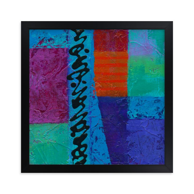 """Color Block II"" - Art Print by Laura Bolter Design in beautiful frame options and a variety of sizes."
