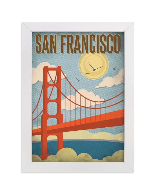 """San Francisco"" - Art Print by Smudge Design in beautiful frame options and a variety of sizes."