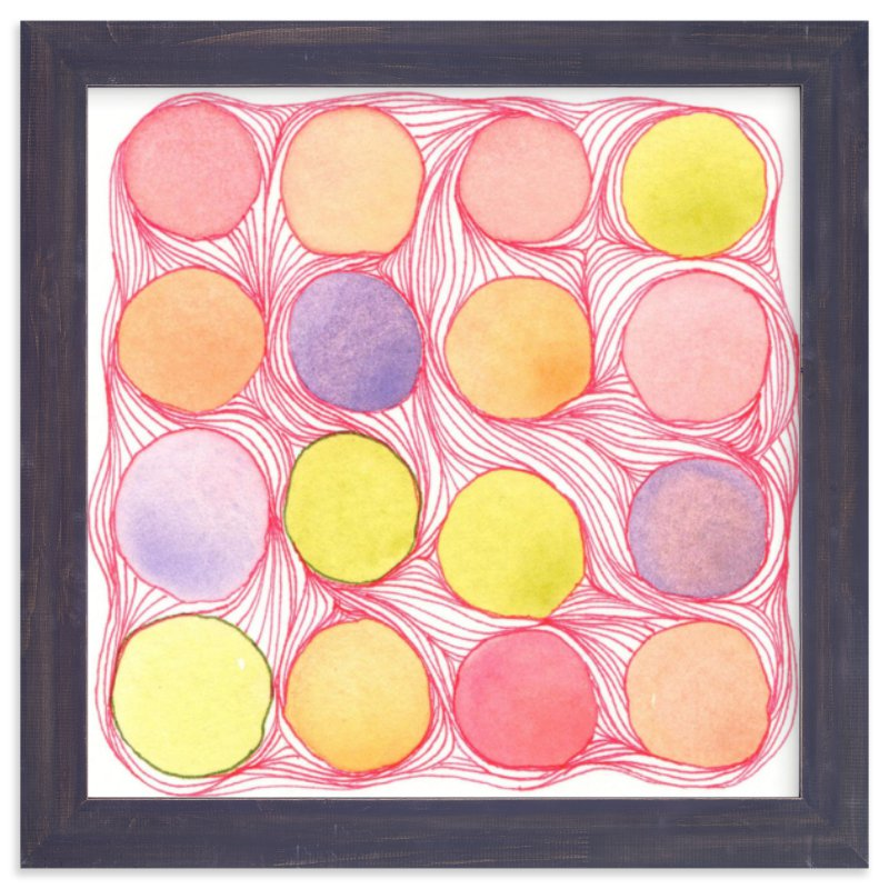 """Pastilles"" - Art Print by SylvieCeres Designs in beautiful frame options and a variety of sizes."