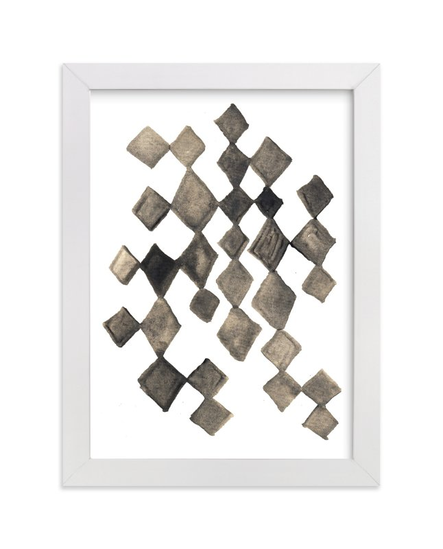 """hand painted diamond shapes"" - Art Print by aticnomar in beautiful frame options and a variety of sizes."