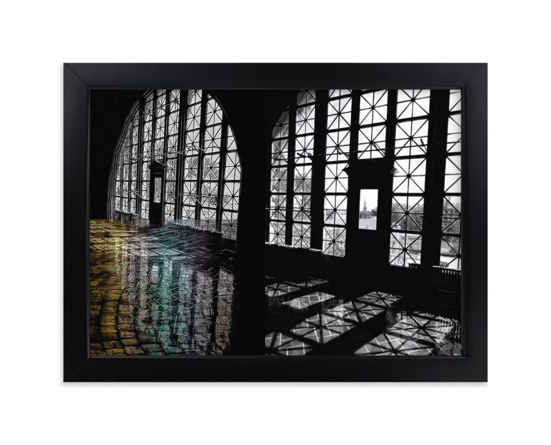 """""""Elis Island NYC"""" - Art Print by A Maz Designs in beautiful frame options and a variety of sizes."""