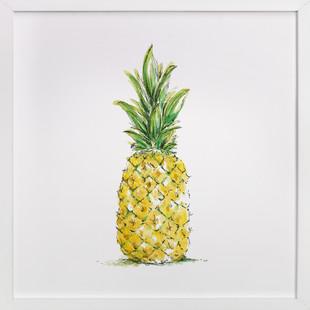 Painted Pineapple  Art Print