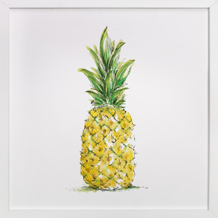 Painted Pineapple  Art Print