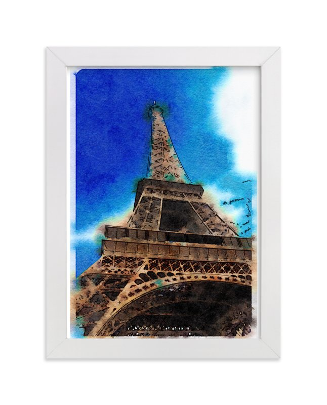 """La Tour Eiffel de Paris"" - Art Print by Teng Wang in beautiful frame options and a variety of sizes."